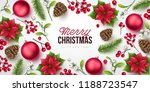 merry christmas background.... | Shutterstock .eps vector #1188723547