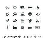 transportation vector icon set. ... | Shutterstock .eps vector #1188724147