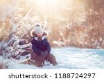 cute boy with opened mouth... | Shutterstock . vector #1188724297