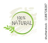 natural product 100 bio healthy ... | Shutterstock .eps vector #1188728287