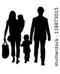family silhouettes | Shutterstock .eps vector #118873015