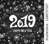 lettering happy new year 2019... | Shutterstock .eps vector #1188737107