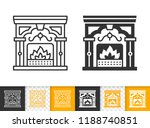 fireplace black linear and... | Shutterstock .eps vector #1188740851