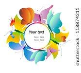 butterflies design vector   Shutterstock .eps vector #118874215