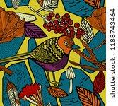 autumn seamless pattern  birds... | Shutterstock .eps vector #1188743464