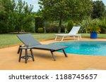 sun lounger near pool. | Shutterstock . vector #1188745657