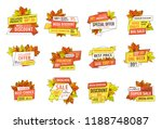 sale emblems with info about... | Shutterstock .eps vector #1188748087