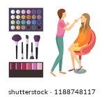 visage makeup of client woman... | Shutterstock .eps vector #1188748117