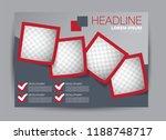 landscape wide flyer template.... | Shutterstock .eps vector #1188748717