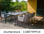 dining table with chairs and... | Shutterstock . vector #1188749914
