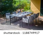 dining table with chairs and... | Shutterstock . vector #1188749917