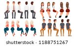 big set of sitting people. men... | Shutterstock .eps vector #1188751267