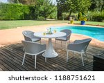 dining table with chairs and... | Shutterstock . vector #1188751621
