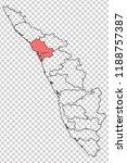 kozhikode district is shown... | Shutterstock .eps vector #1188757387
