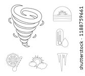 different weather outline icons ... | Shutterstock .eps vector #1188759661