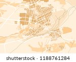 geographic map of the city  the ... | Shutterstock . vector #1188761284