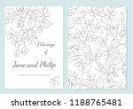 wedding invitation card... | Shutterstock .eps vector #1188765481