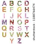 english alphabet made from... | Shutterstock . vector #1188766474