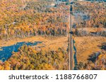 railway through the forest with ... | Shutterstock . vector #1188766807
