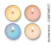 candle top view. vector set of... | Shutterstock .eps vector #1188768517