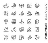 vector icon set of ecology in... | Shutterstock .eps vector #1188770677