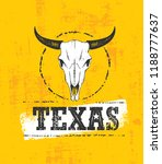 texas wild west rough vector...   Shutterstock .eps vector #1188777637