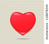 big red heart shape with pattern | Shutterstock .eps vector #118878244