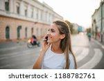 close up of a beautiful girl... | Shutterstock . vector #1188782761