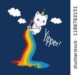 rainbow cute cat vector... | Shutterstock .eps vector #1188783151