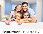 beautiful smiling family in... | Shutterstock . vector #1188784417