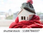 house in winter   heating... | Shutterstock . vector #1188786037