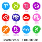 collection of hand drawn zodiac ... | Shutterstock .eps vector #1188789001