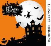 orange halloween banner | Shutterstock .eps vector #1188793441