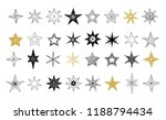 collection of snowflakes  stars ... | Shutterstock .eps vector #1188794434