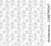 flower seamless pattern with... | Shutterstock .eps vector #1188799267