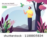 man walking at forest or guy at ... | Shutterstock .eps vector #1188805834