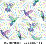 flying hummingbirds on light... | Shutterstock .eps vector #1188807451