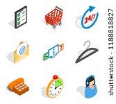 modern communication icons set. ...
