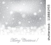 abstract white winter background | Shutterstock .eps vector #118881955