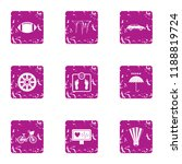 healthy individual icons set.... | Shutterstock . vector #1188819724