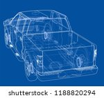 car suv drawing outline. vector ...   Shutterstock .eps vector #1188820294