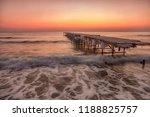 winter sunrise long exposure... | Shutterstock . vector #1188825757