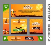 collection of halloween sale... | Shutterstock .eps vector #1188831601