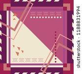 geometric scarf design pattern. ... | Shutterstock .eps vector #1188831994