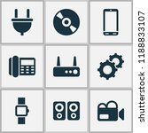 device icons set with video... | Shutterstock .eps vector #1188833107