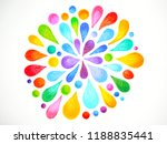 7 color of chakra mandala... | Shutterstock . vector #1188835441