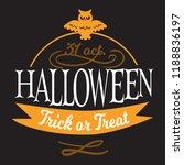 happy halloween lettering logo... | Shutterstock .eps vector #1188836197