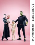 halloween family. happy father  ... | Shutterstock . vector #1188838771