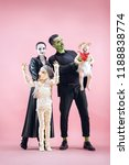 halloween family. happy father  ... | Shutterstock . vector #1188838774