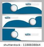 banner template. horizontal... | Shutterstock .eps vector #1188838864